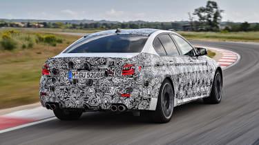 BMW M5 prototype - rear three quarter