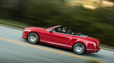 2013 Bentley Continental GT Speed Convertible red side profile