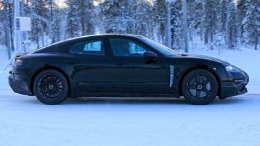 Porsche Mission E – winter testing – side