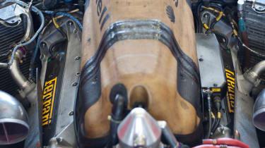 Michael Schumacher's Ferrari F1 car V10 engine