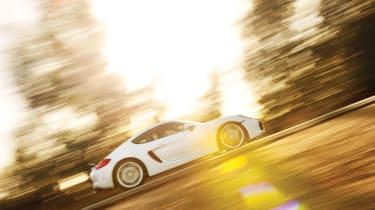 Porsche Cayman S 2013 side profile