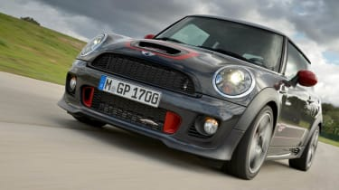 Mini John Cooper Works GP on track front
