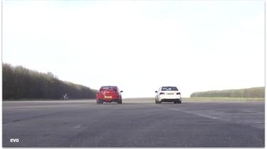 Mercedes E63 S AMG v Vauxhall VXR8 GTS: drag race video