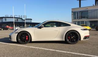 Porsche 911 on location - crayon grey