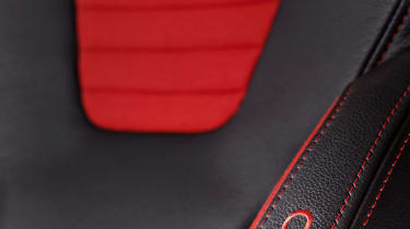 2013 Ford Fiesta ST black and red Recaro sports seat
