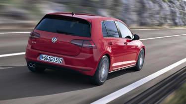Mk7 VW Golf GTD red rear view