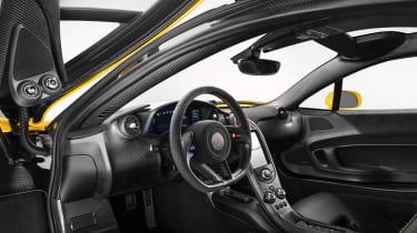 McLaren P1 supercar carbonfibre interior