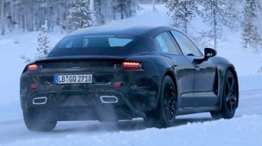 Porsche Mission E – winter testing – rear