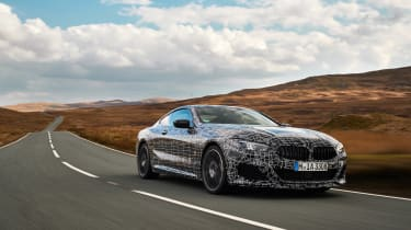 BMW 8-series prototype review - front tracking
