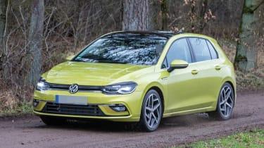 Volkswagen Golf 8 spy - nose