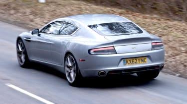 Aston Martin Rapide S silver rear view