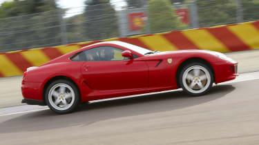 Ferrari 599 HGTE on track