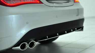 Brabus Mercedes CLA exhaust pipes