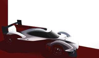 Porsche LMDh racer 2023