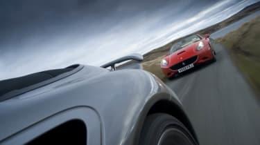 Audi R8 Spyder v Porsche 911 Turbo v Ferrari California v Jaguar XKR