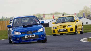VIDEO: evo's 2012 track evenings Subaru Impreza WRX STI MG ZR