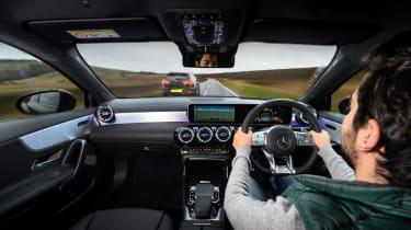 Mercedes-AMG A35 saloon vs Cupra Leon R Abt vs BMW M135i - Cupra interior