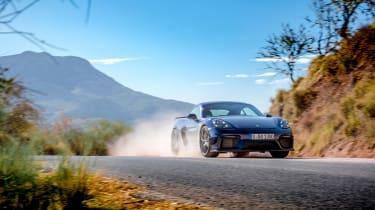 Porsche 718 Cayman GT4 front action