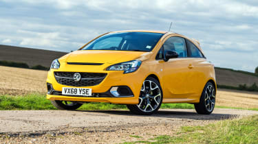 Vauxhall Corsa GSi review - front quarter