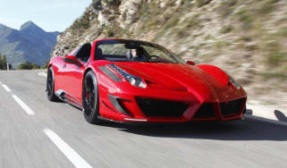Ferrari 458 Spider Monaco Edition by Mansory front tracking