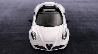 Alfa Romeo 4C Spider white