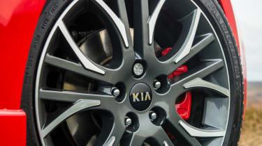Kia Ceed GT five-door front 18in alloy wheel