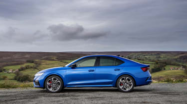 Skoda Octavia vRS iV review - side static