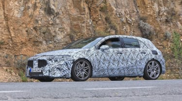 Mercedes-AMG A45 Spies - side