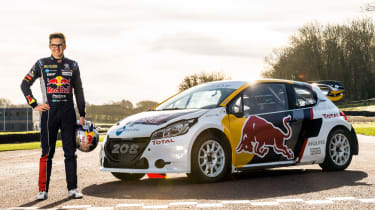 Kevin Hansen with his 2016 Peugeot 208 WRX