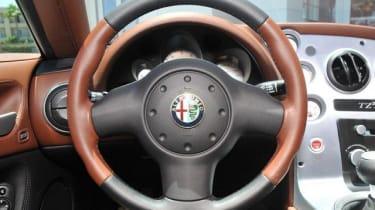 Alfa Romeo TZ3 Stradale interior steering wheel