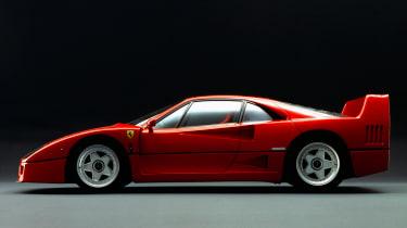 Ferrari F40 side profile