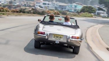 Jaguar E-type Zero - driving rear