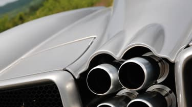 New Pagani Huayra four exhaust tailpipes