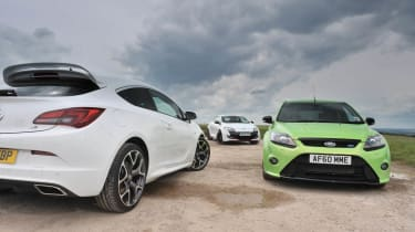Vauxhall Astra VXR Ford Focus RS Renaultsport Megane 265 Cup