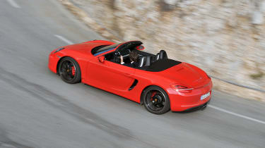 Porsche Boxster rear cornering shot