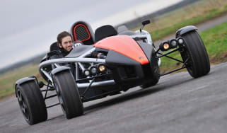 2013 Ariel Atom 3.5 red sideways drift slide