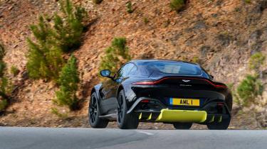 Aston Martin Vantage - black rear