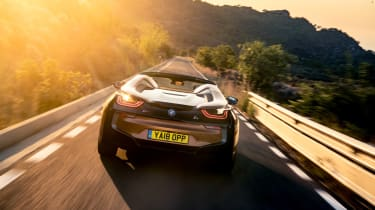 BMW i8 Roadster rear
