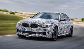 BMW M5 prototype - front tracking