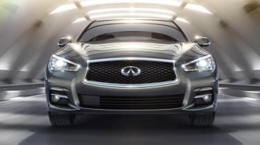 Infiniti Q50 sports saloon front view