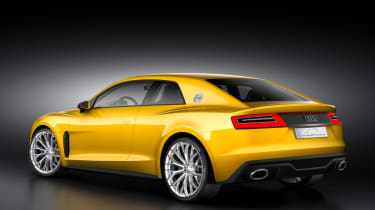 Audi Sport Quattro concept yellow rear