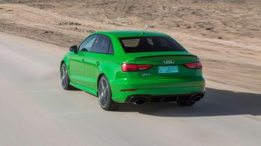 Audi RS3 Saloon Green rear 1