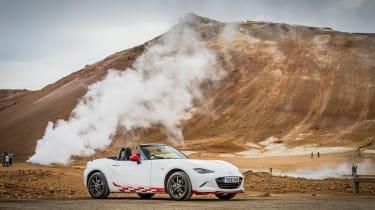 Mazda MX-5 in Iceland - side
