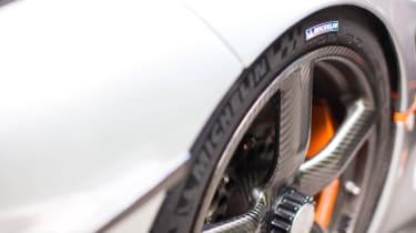 Michelin tyre on Koenigsegg wheel