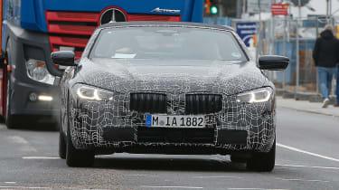BMW 8-series Cabriolet spied - front