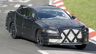 Jaguar XJ spy shot