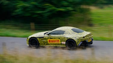 New 2018 Aston Martin Vantage spy shots side
