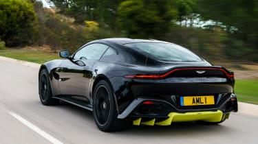 Aston Martin Vantage - black rear quarter