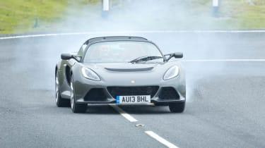 Lotus Exige S Roadster sideways drift