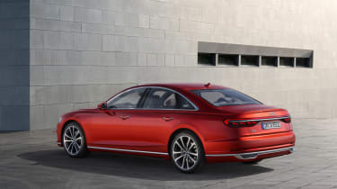 All-new Audi A8 red - front rear 3.4